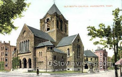 Old South CHurch - Worcester, Massachusetts MA Postcard