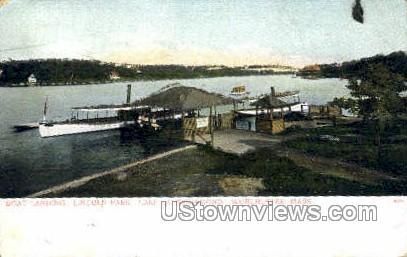 Boat Landing, Lincoln Park - Worcester, Massachusetts MA Postcard