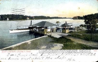 Boat Landing - Worcester, Massachusetts MA Postcard