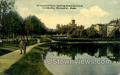University Park - Worcester, Massachusetts MA Postcard