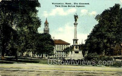 The Common - Worcester, Massachusetts MA Postcard