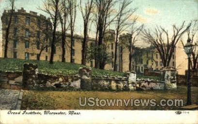 oread Institute - Worcester, Massachusetts MA Postcard