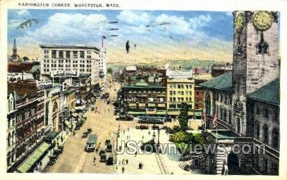 Harrington corner - Worcester, Massachusetts MA Postcard