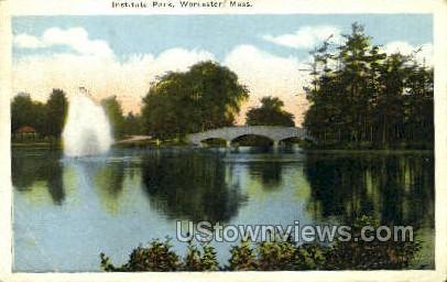 Institute Park - Worcester, Massachusetts MA Postcard