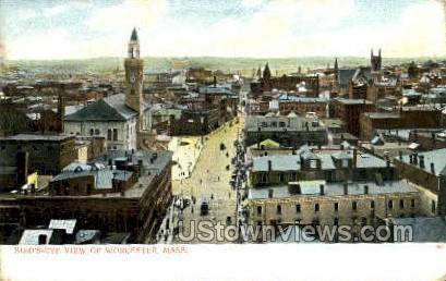 Worcester, Massachusetts, MA Postcard