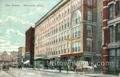 The Warren - Worcester, Massachusetts MA Postcard