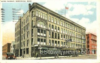Hotel Warren - Worcester, Massachusetts MA Postcard