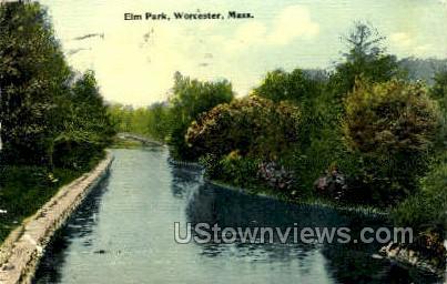 Elm Park - Worcester, Massachusetts MA Postcard