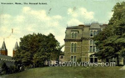 The Normal School - Worcester, Massachusetts MA Postcard