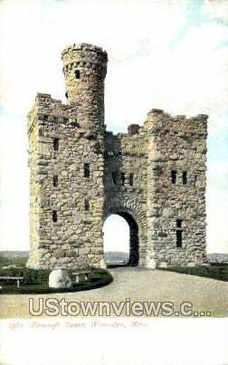 Bancroft Tower - Worcester, Massachusetts MA Postcard