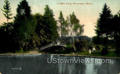 In Elm Park - Worcester, Massachusetts MA Postcard