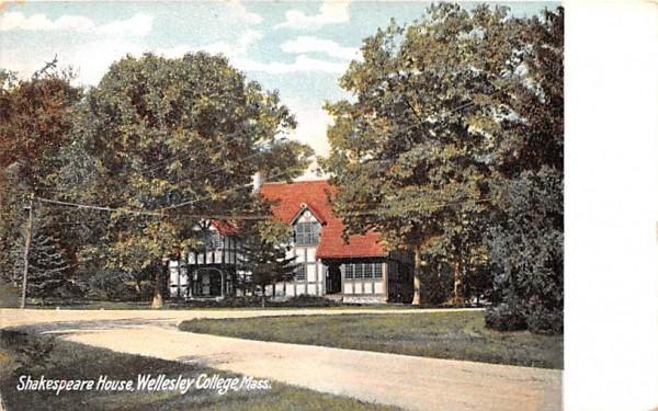 Shakespeare House Wellesley, Massachusetts Postcard