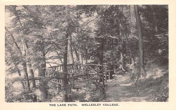 The Lake Path Wellesley, Massachusetts Postcard