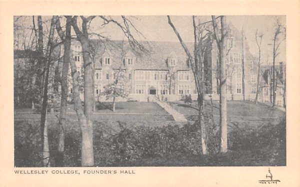 Founder's Hall Wellesley, Massachusetts Postcard