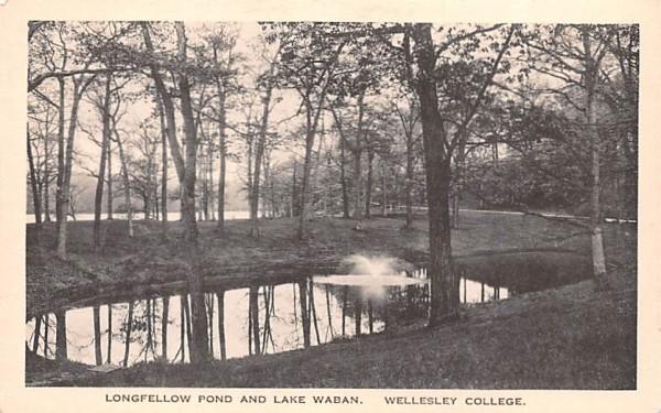 Longfellow Pond & Lake Waban Wellesley, Massachusetts Postcard