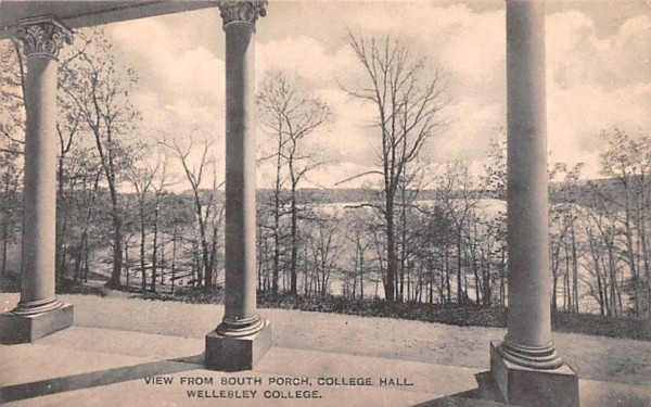 View from South Porch Wellesley, Massachusetts Postcard