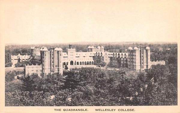 The Quadrangle  Wellesley, Massachusetts Postcard