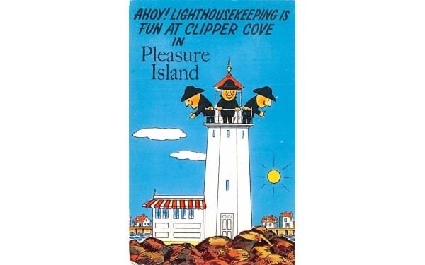 Pleasure Island Wakefield, Massachusetts Postcard