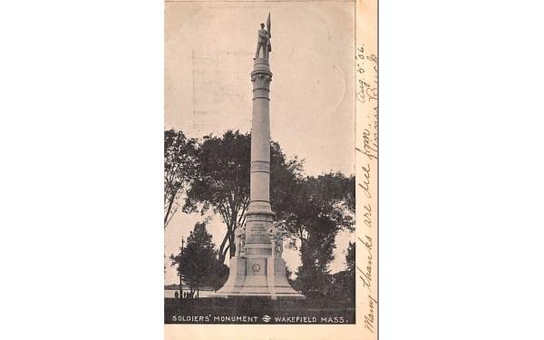 Soldiers' Monument Wakefield, Massachusetts Postcard