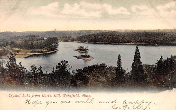 Crystal Lake  Wakefield, Massachusetts Postcard