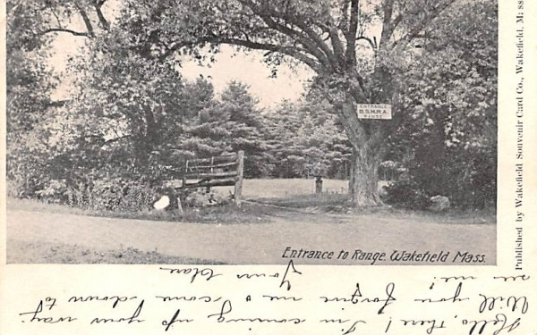 Entrance to Range  Wakefield, Massachusetts Postcard
