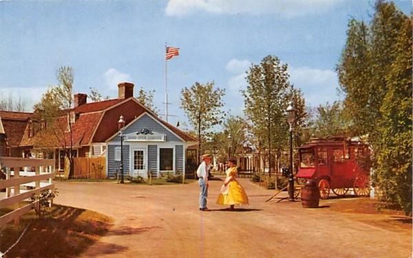Colonial Settlers at Pleasure Island Wakefield, Massachusetts Postcard