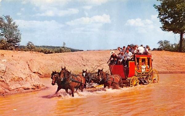 Fording the Stream at Pleasure Island Wakefield, Massachusetts Postcard