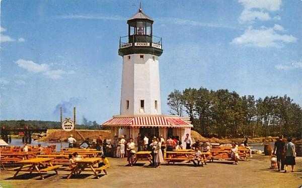Hawkes Point Light House Wakefield, Massachusetts Postcard
