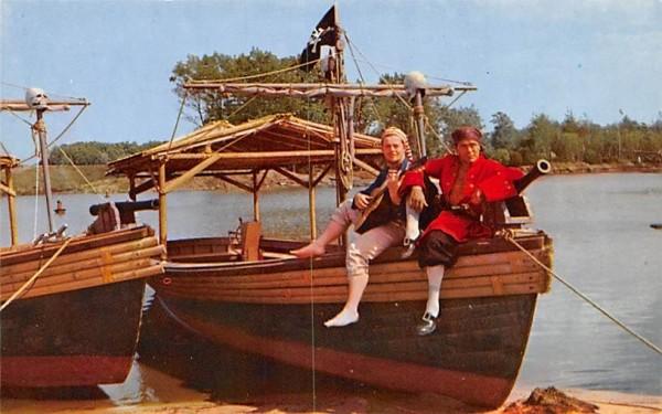 Exciting Pirate Ride at Pleasure Island Wakefield, Massachusetts Postcard