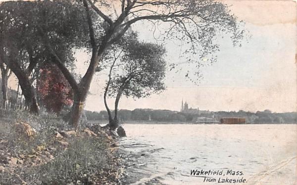 Wakefield from Lakeside Massachusetts Postcard