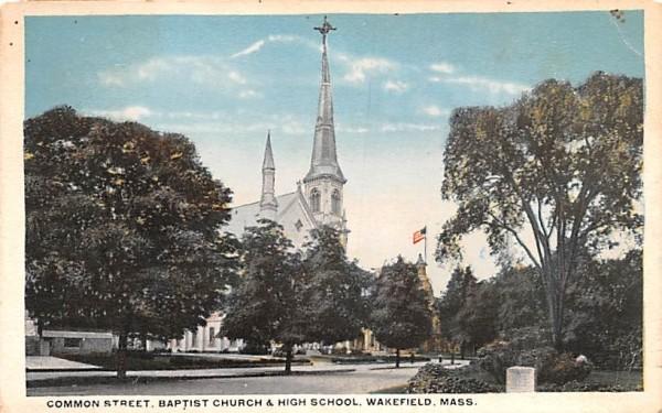 Common Street  Wakefield, Massachusetts Postcard