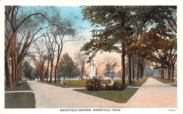 Wakefield Common Massachusetts Postcard