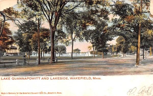 Lake Quannapowitt & Lakeside Wakefield, Massachusetts Postcard