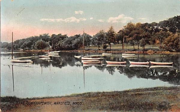 Lake Quannapowitt Wakefield, Massachusetts Postcard