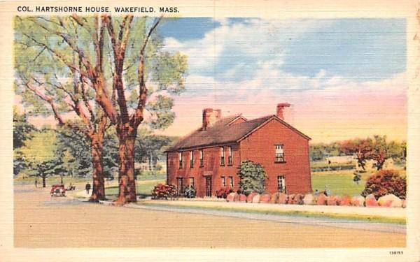 Col. Hartshorne House Wakefield, Massachusetts Postcard
