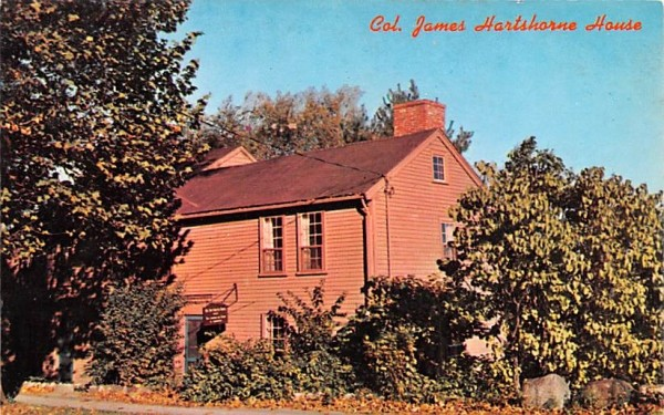 Col. James Hartshore House Wakefield, Massachusetts Postcard