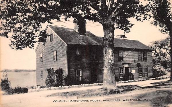 Colonel Hartshorne House Wakefield, Massachusetts Postcard