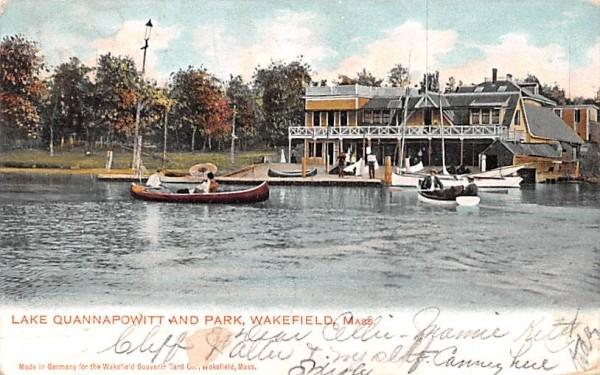 Lake Quannapowitt & Park Wakefield, Massachusetts Postcard