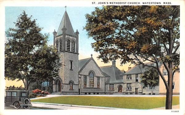St. John's Methodist Church Watertown, Massachusetts Postcard