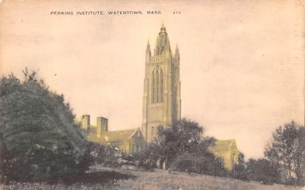 Perkins Institute  Watertown, Massachusetts Postcard