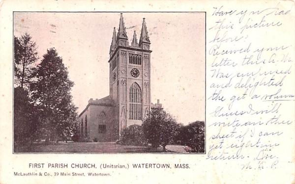 First Parish Church Watertown, Massachusetts Postcard