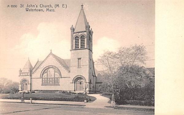 St. John's Church (M. E) Watertown, Massachusetts Postcard