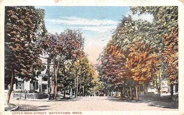 Upper Main Street Watertown, Massachusetts Postcard