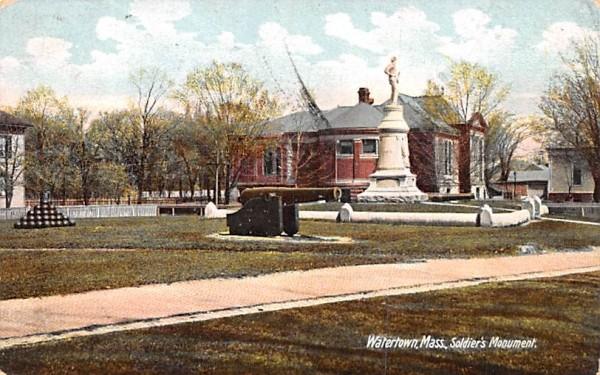 Soldier's Monument Watertown, Massachusetts Postcard