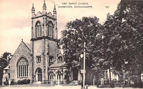 First Baptist Church Watertown, Massachusetts Postcard