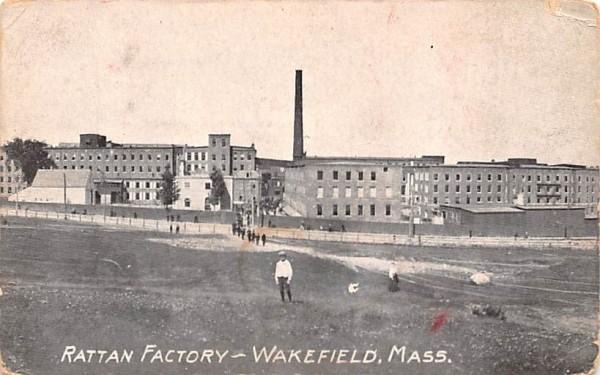 Rattan Factory Wakefield, Massachusetts Postcard