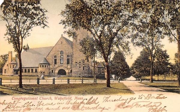 Congregational Church Wakefield, Massachusetts Postcard