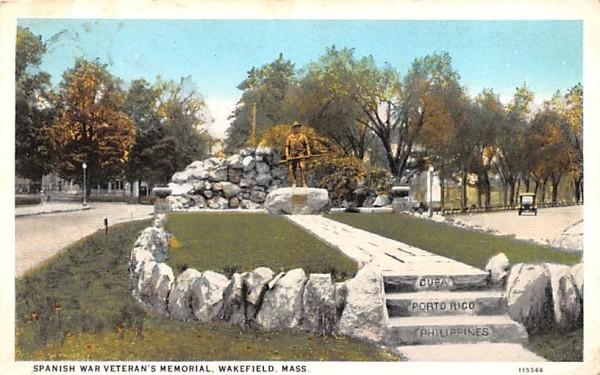 Spanish War Veteran's Memorial Wakefield, Massachusetts Postcard