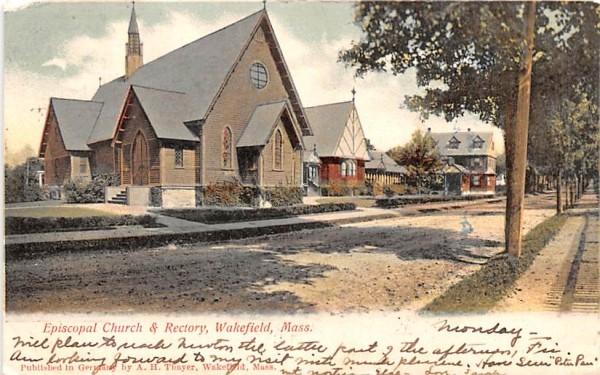 Episcopal Church & Rectory Wakefield, Massachusetts Postcard