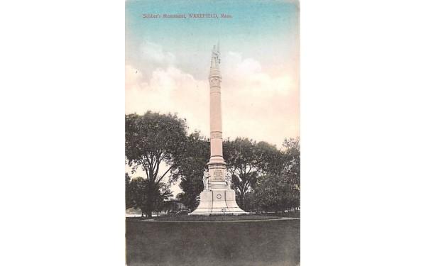 Soldier's Monument Wakefield, Massachusetts Postcard